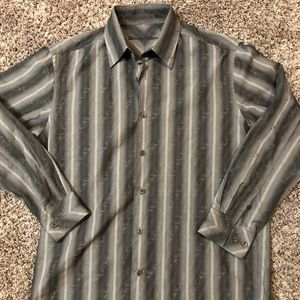 Tommy Bahama M Long Sleeve Cotton Silk Button
